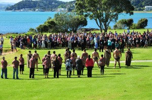 Powhiri at a Collective Concepts Event Tourism