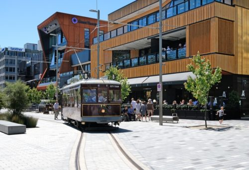 The Terrace, Christchurch Tram