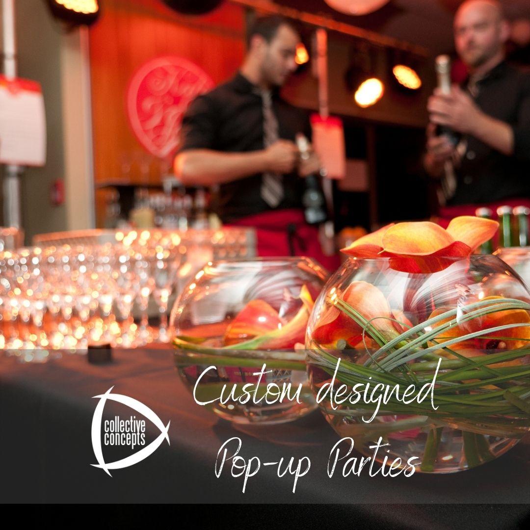 custom designed pop up parties