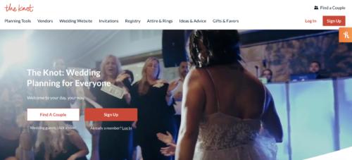 The Knot wedding website.