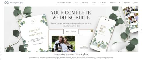 Appy Couple wedding website.