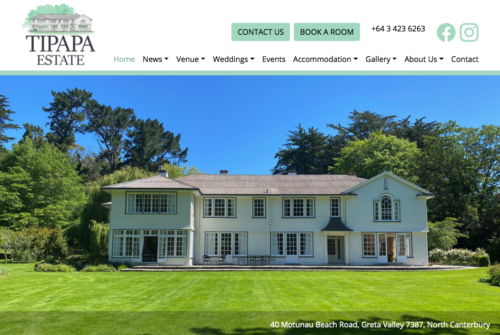 Tipapa Estate Website.