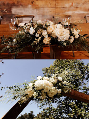 Sustainable wedding flowers.
