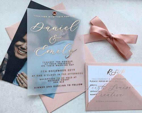 Vellum Foil Wedding Invitation